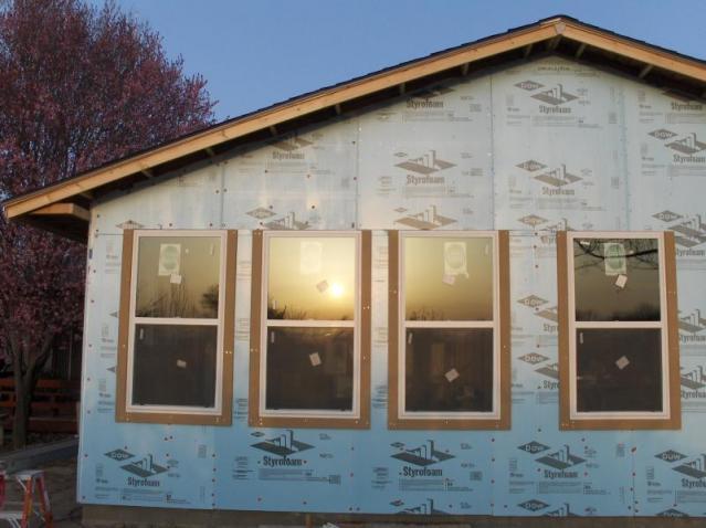 Renovation Insulation and trim beginning