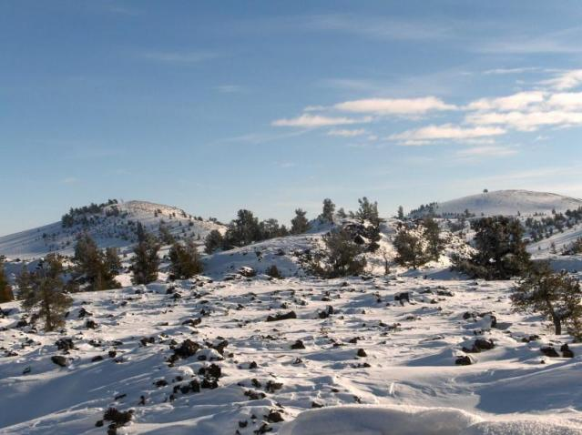 Snow at the Craters
